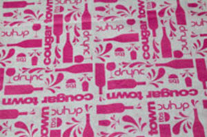 custom tissue paper COUGAR TOWN WHITE TISSUE