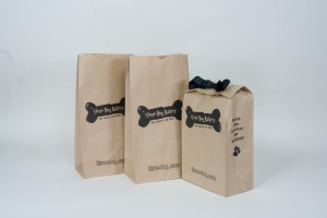 Custom Printed Recycled Paper Bags Three Dogs