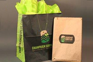 Custom Printed Recycled Paper Bags Champaign Surplus