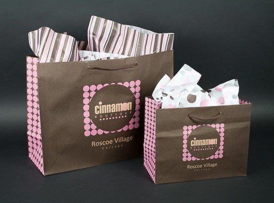 Custom Printed Eurototes for Cinnamon Boutique