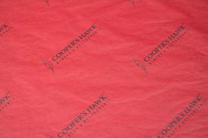 custom tissue paper COOPERS HAWK RED TISSUE